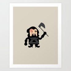 The Hound Dwarf Art Print