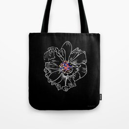 White stroke flower rainbow anthers Tote Bag