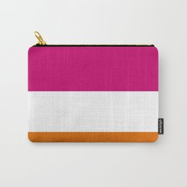 Tri-Color [Pink, White, Orange] Carry-All Pouch