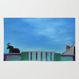 Evening at the Colonial Movie Theater Painting Rug