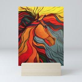 Wild Horse Breaking Free Southwestern Style Mini Art Print