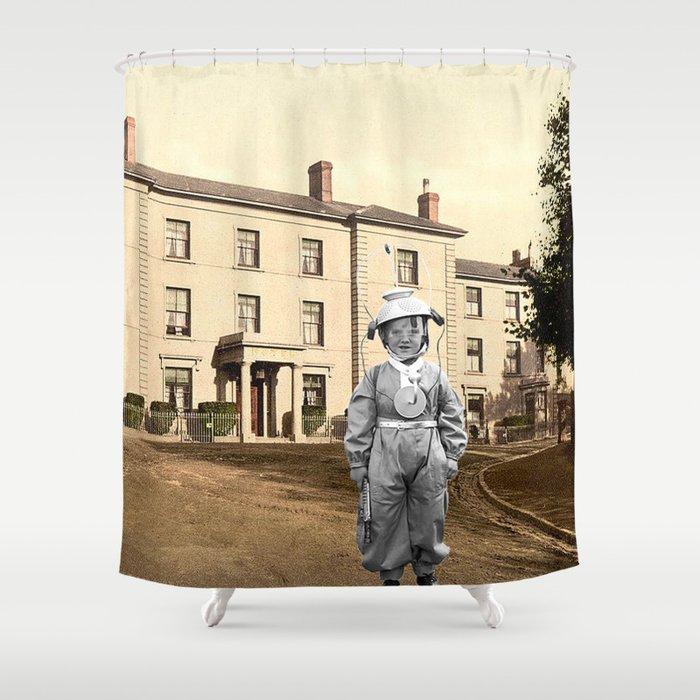 Child Astronaut Shower Curtain