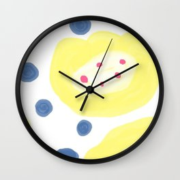 Blueberry and Custard pudding Wall Clock