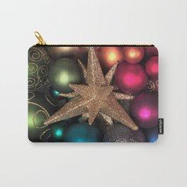 Rainbow Christmas Ornaments Carry-All Pouch