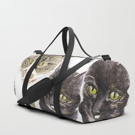 Two cats - tabby and tortie Duffle Bag