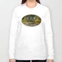 monet Long Sleeve T-shirts featuring Monet Bridge Reflected by Wealie