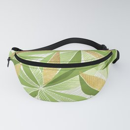 Modern Hawaiian Print III - with Metallic Accents Fanny Pack