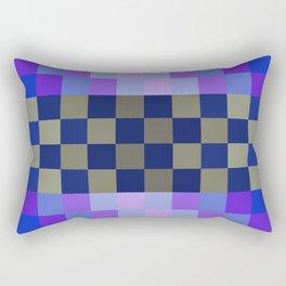 Blue Sky With A Cloud In Pixel Rectangular Pillow