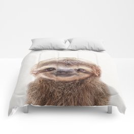 Baby Sloth, Baby Animals Art Print By Synplus Comforters