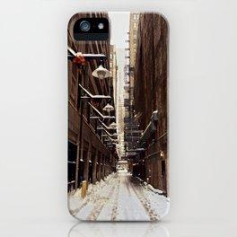 Chicago Winter Alley iPhone Case