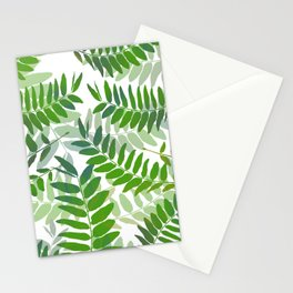 Green Jungle Leaves Stationery Cards