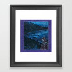 Blue, blue boy Framed Art Print
