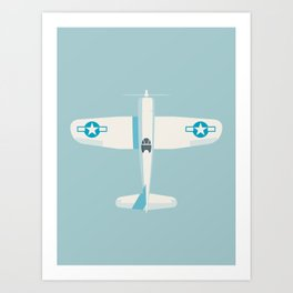 F4U Corsair Fighter Aircraft - Sky Art Print