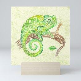 Swirly Chameleon Mini Art Print