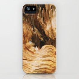 Rock wood iPhone Case