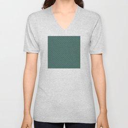 Green (Vert) Tres Petit Geometric Pattern Unisex V-Neck