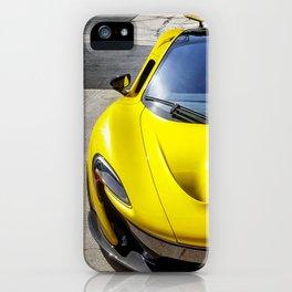 Acid Yellow McLaren P1 iPhone Case
