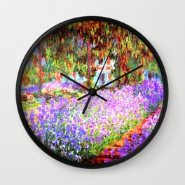 Monets Garden in Giverny Wall Clock