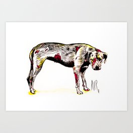 The sadness of streetdogs Art Print