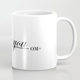 One OM: I Love You (black letters) Coffee Mug