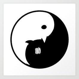 Goodnight / Oyasumi Punpun - Yin Yang Art Print