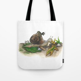 Little Worlds: Snail and Cricket Tote Bag