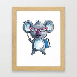 Koala Teacher Kids Pre-School Elementary Framed Art Print