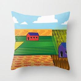Campi (Fields) Throw Pillow