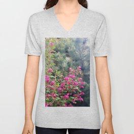 Spring Blooming Flowers Unisex V-Neck