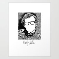 woody allen Art Prints featuring Woody Allen by totemxtotem
