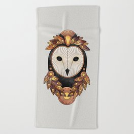Owl 3 Beach Towel