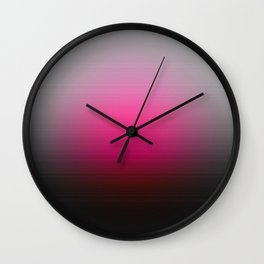 Pink Red Ombre Focus Wall Clock