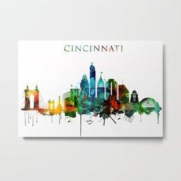 Colorful Cincinnati skyline Metal Print