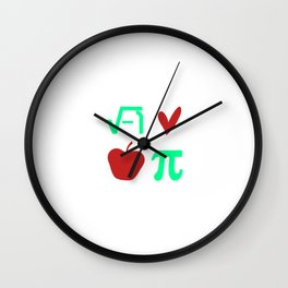 Funny Thanksgiving Math I Love Apple Pi or Pie Day Equation Wall Clock