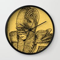 knight Wall Clocks featuring Knight by Red Drago