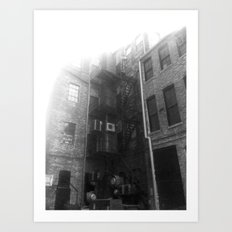 Fire Escape (Sunny) Art Print
