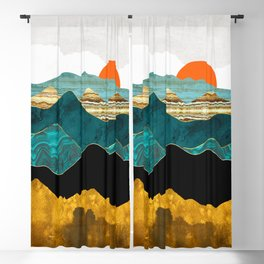 Turquoise Vista Blackout Curtain
