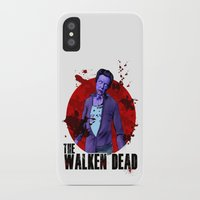 christopher walken iPhone & iPod Cases featuring The Walken Dead – The Walking Dead Parody – Christopher Walken Zombie by ptelling