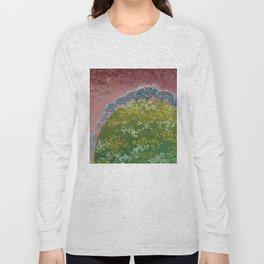 fairy garden,original oil painting, green planet Long Sleeve T-shirt
