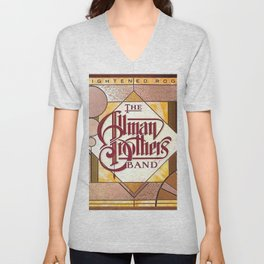 Enlightened Rogues by The Allman Brothers Band - Vector Drawing Unisex V-Neck