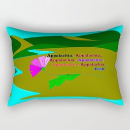 My Colorful and True Ode to Beautiful Appalachia! Rectangular Pillow