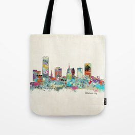 Oklahoma City Oklahoma skyline Tote Bag