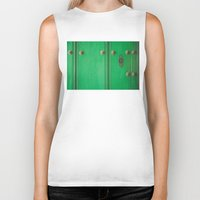 door Biker Tanks featuring Door by Caro Navarro