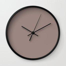 Dark Pastel Rose Pink Solid Color Parable to Valspar Irish Tea 1004-9C Wall Clock