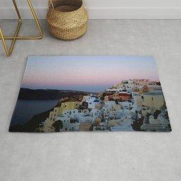 Dawn of Santorini Greece Rug