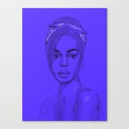 Joan in purple Canvas Print