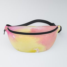 Watercolour Abstract (Pink + Yellow) Fanny Pack