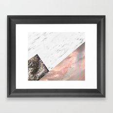 Marble with sequins and mother of pearl Framed Art Print
