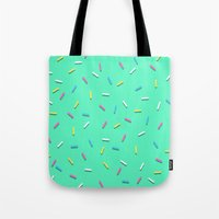 sprinkles Tote Bags featuring Sprinkles! by Planet64