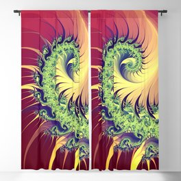 colorful fractal spirals -102- Blackout Curtain